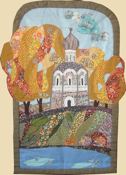 Картины своими руками из лоскутков ткани 59